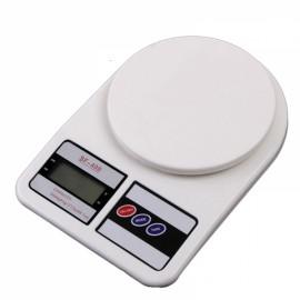 Mini Electronic Kitchen Scale with Strain-gauge Sensor 5000g/1g White