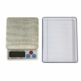 """MH-666 6kg/0.1g 2.5"""" LCD Digital Kitchen Scale Herb Scale with Removable Tray Silver Gray"""