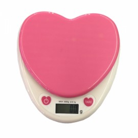 KS-686 3000g/0.1g Heart Shaped Precision Kitchen Baking Herb Scale Pink
