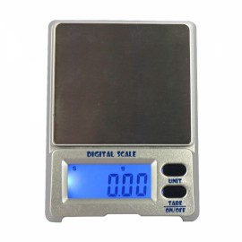 "DS-18 200g / 0.01g 1.5"" LCD Precision Pocket Electronic Jewelry Scale Silver Gray"