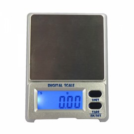 "DS-18 300g / 0.01g 1.5"" LCD Precision Pocket Electronic Jewelry Scale Silver Gray"