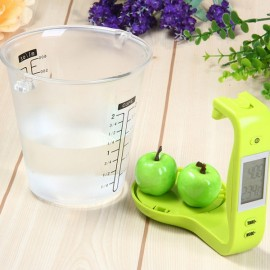 LCD Digital 1KG 600ML Measuring Cup Kitchen Scale Green
