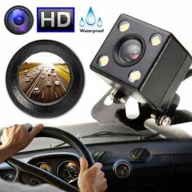 170-Degree Night Vision HD Car Reverse Camera Waterproof Parking Rear View LED Sensor Black