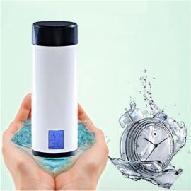 Portable Smart Healthy Remind Mug Intelligent Water Drinking Reminder Cup with Time Date Display 320ml White