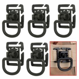 5pcs Outdoor 360 Degrees Rotation POM Tactical D-Ring Buckles for MOLLE Locking Carabiner Backpack Army Green