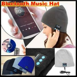 Warm Beanie Knitted Hat Bluetooth Wireless Music Speaker Headphone Dark Gray